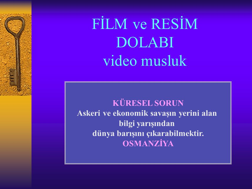 FİLM ve RESİM DOLABI video musluk