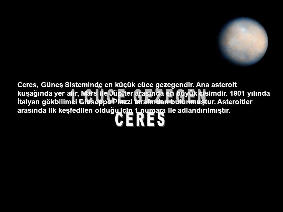 Ceres, Güneş Sisteminde en küçük cüce gezegendir