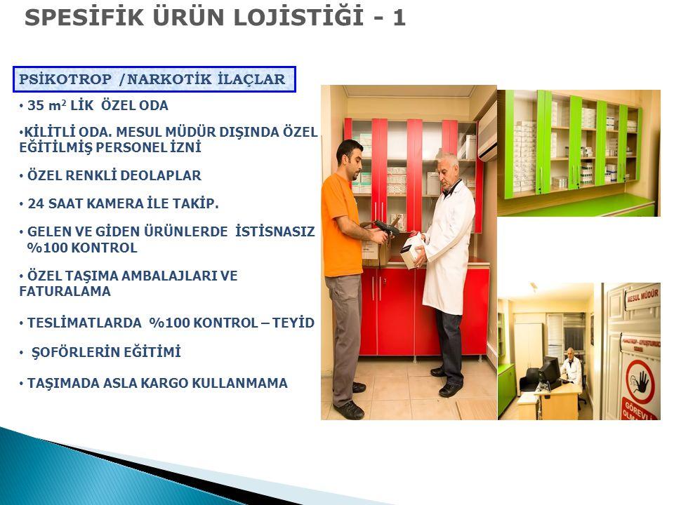SPESİFİK ÜRÜN LOJİSTİĞİ - 1
