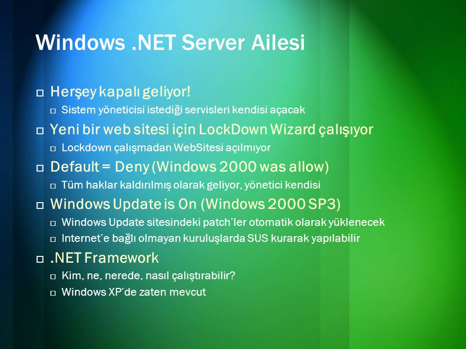Windows .NET Server Ailesi