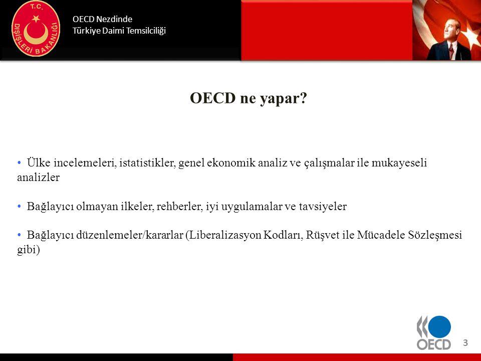 Günümüzde OECD 34 üye OECD ülkesi: