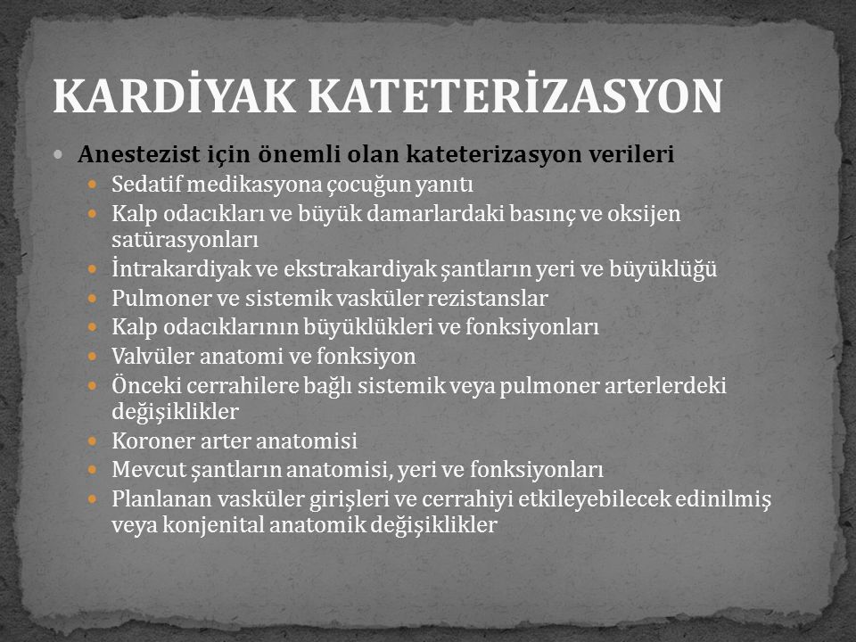 KARDİYAK KATETERİZASYON