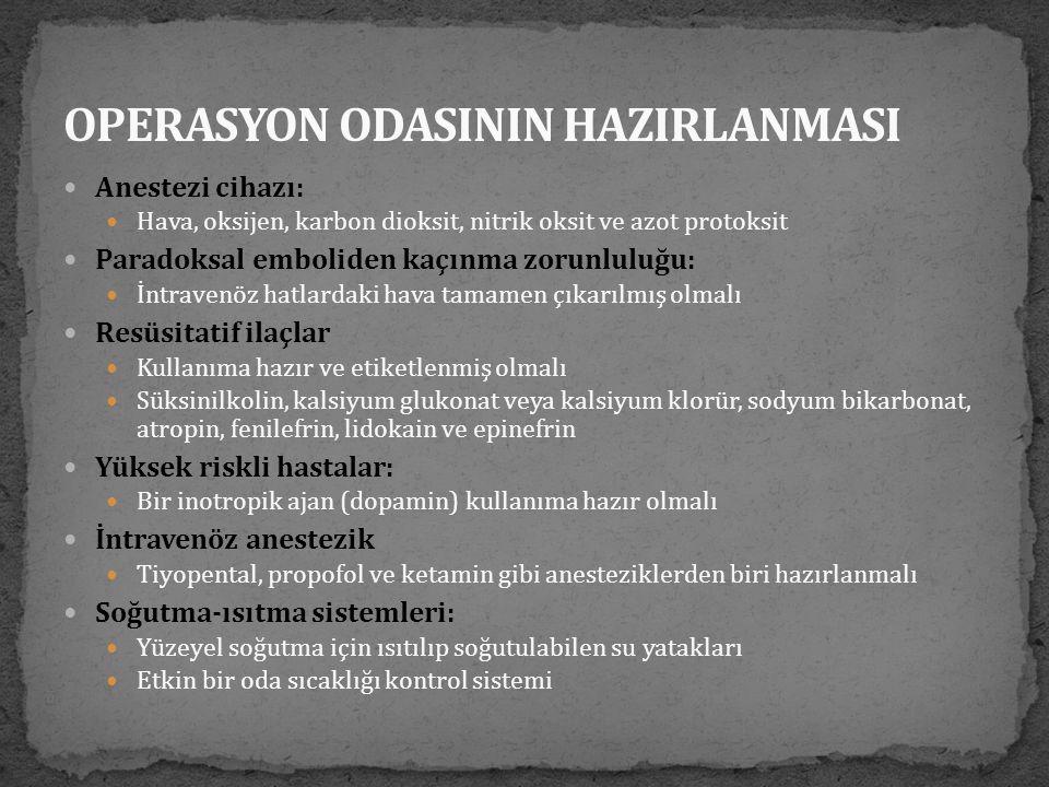 OPERASYON ODASININ HAZIRLANMASI