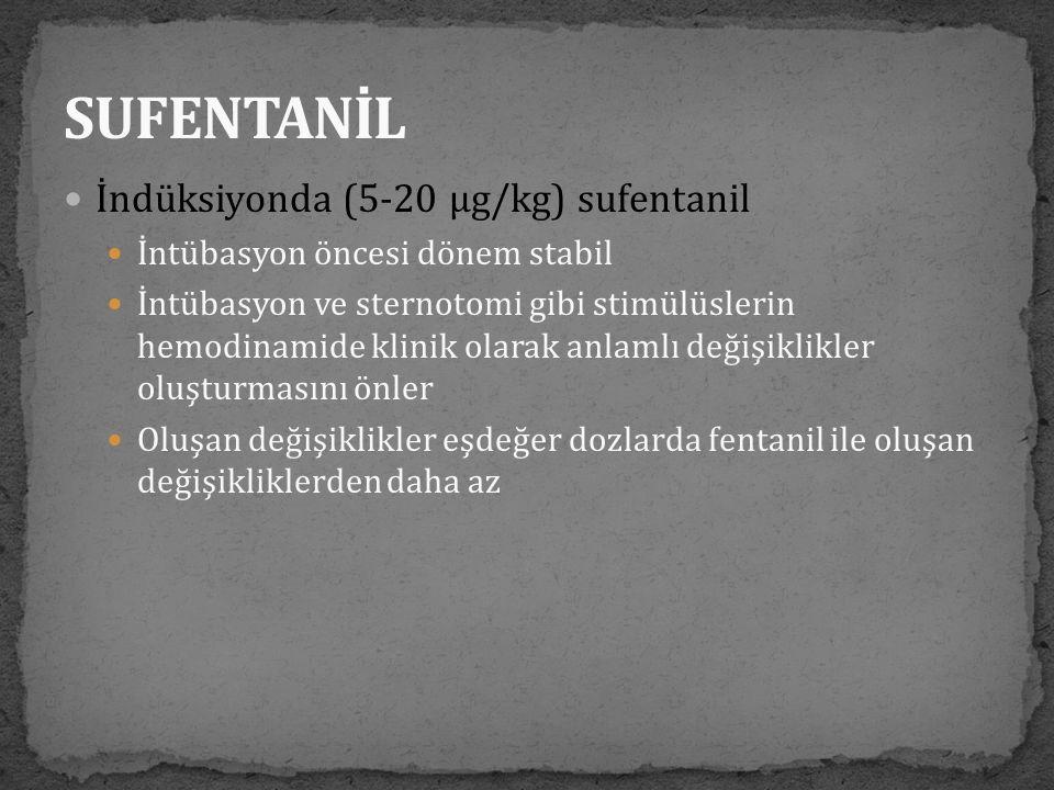 SUFENTANİL İndüksiyonda (5-20 µg/kg) sufentanil