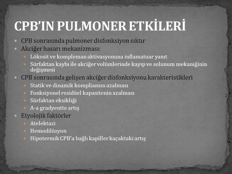 CPB'IN PULMONER ETKİLERİ
