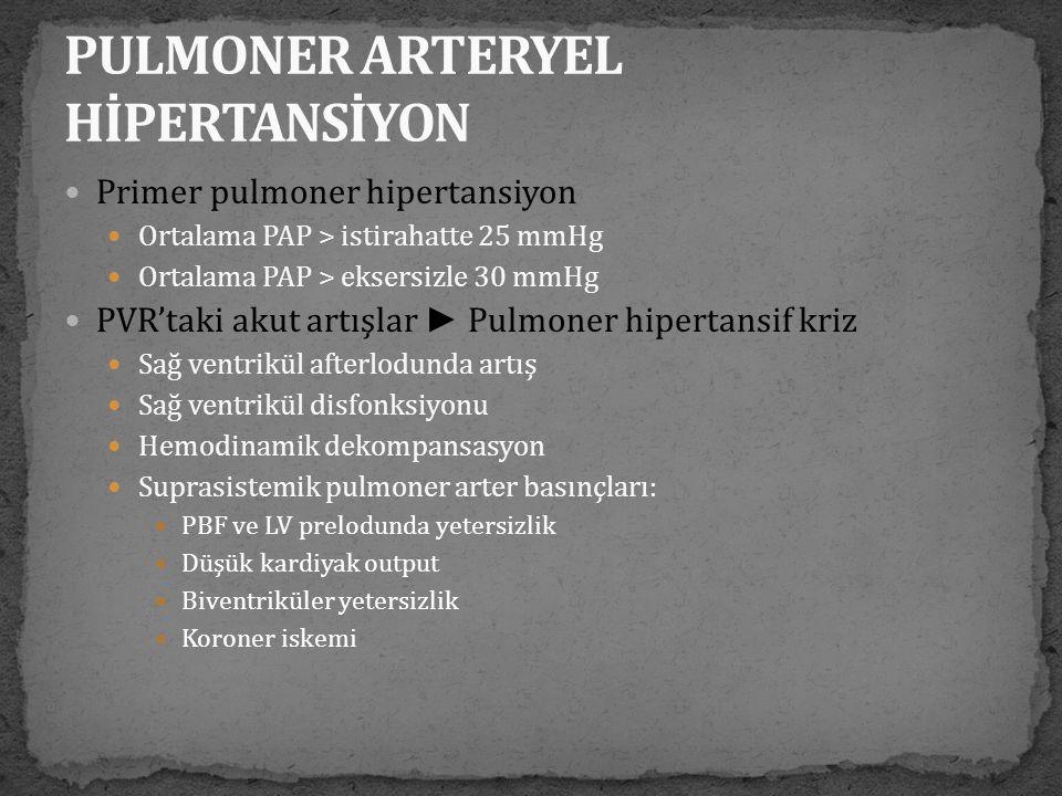 PULMONER ARTERYEL HİPERTANSİYON