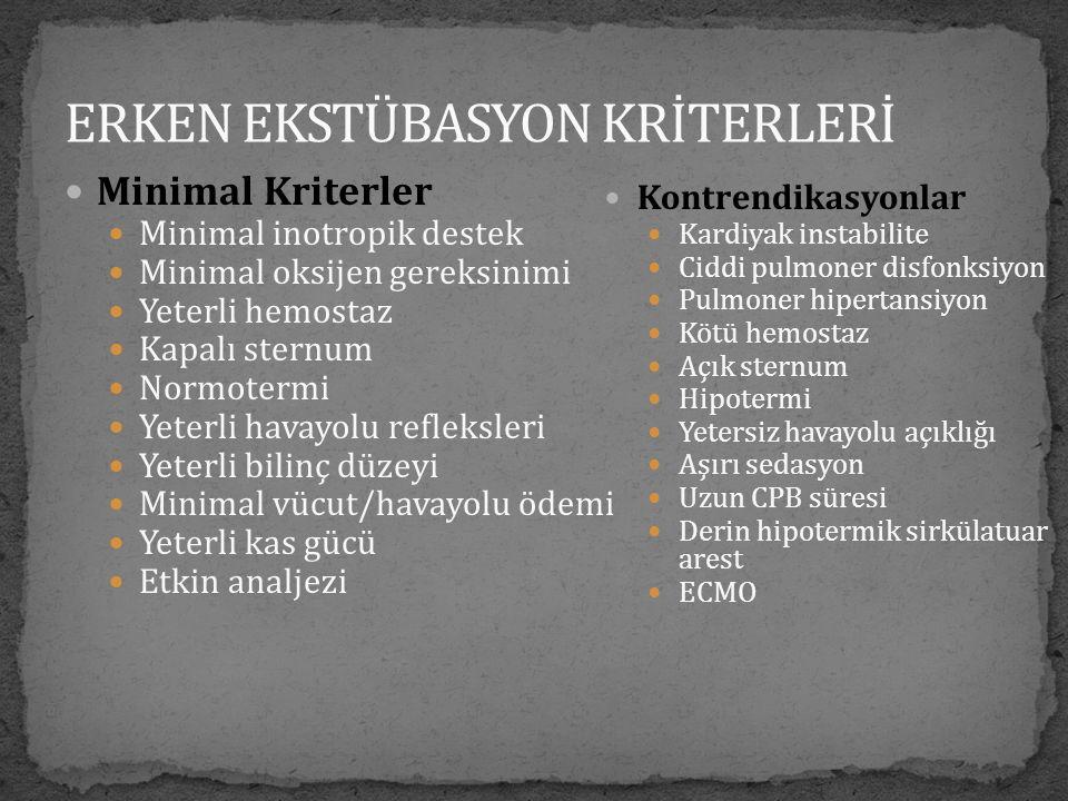 ERKEN EKSTÜBASYON KRİTERLERİ