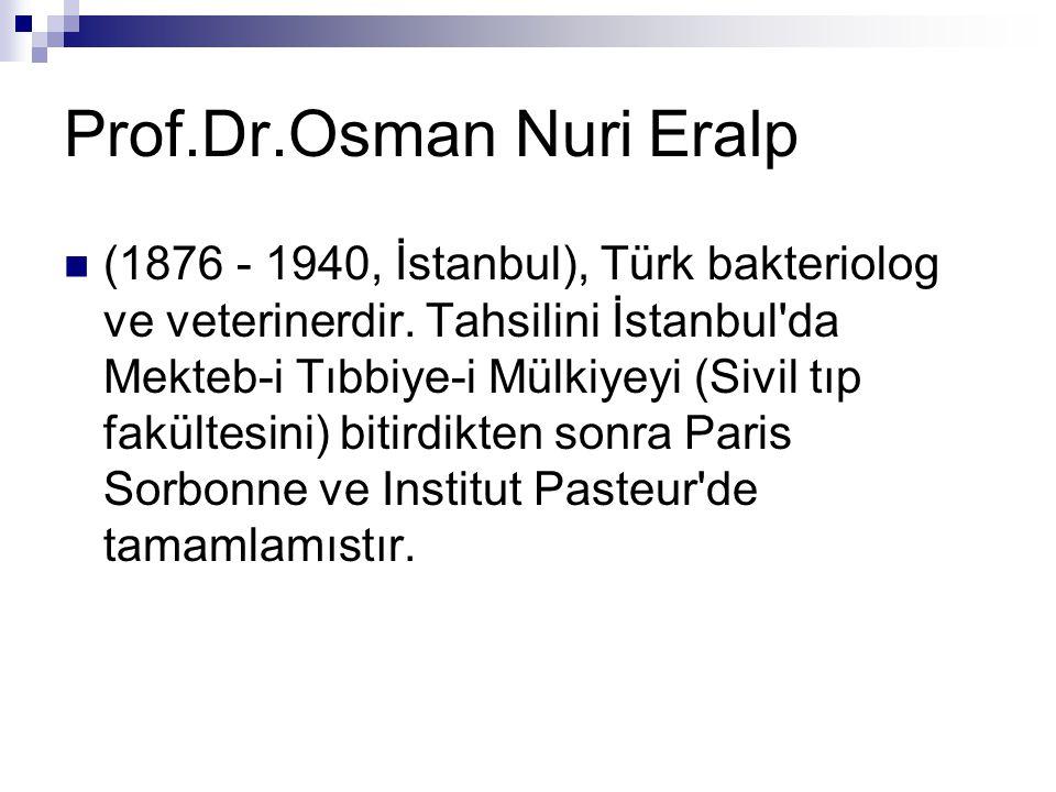 Prof.Dr.Osman Nuri Eralp