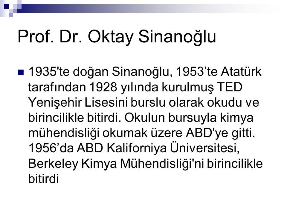 Prof. Dr. Oktay Sinanoğlu