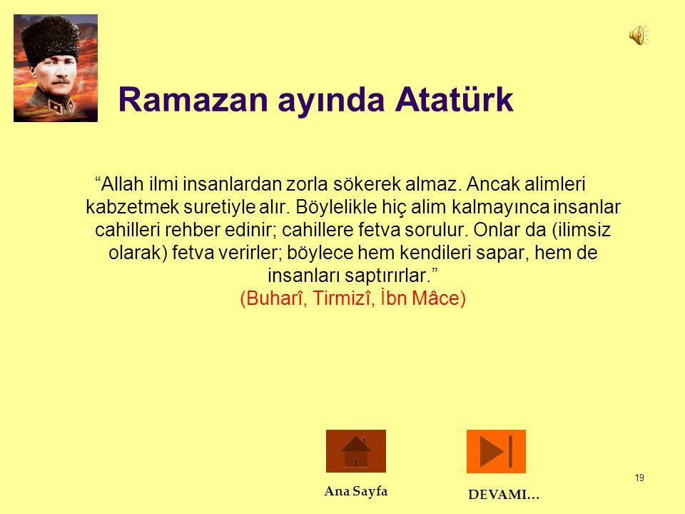 Ramazan ayında Atatürk