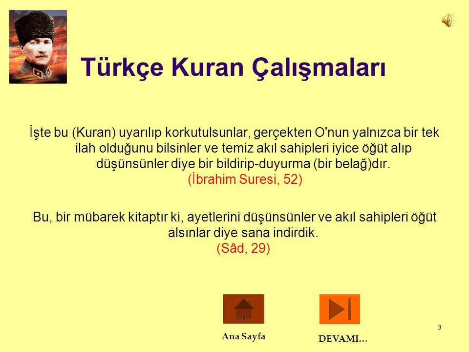 Türkçe Kuran Çalışmaları