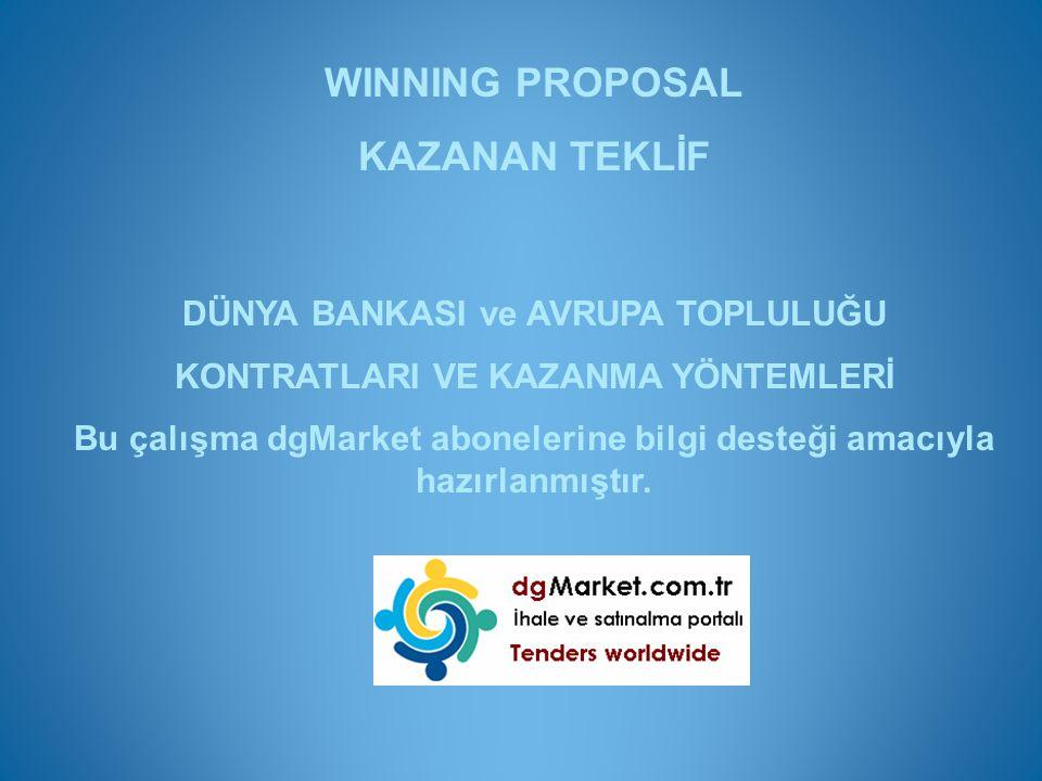 WINNING PROPOSAL KAZANAN TEKLİF