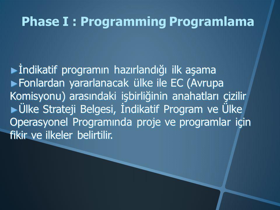 Phase I : Programming Programlama