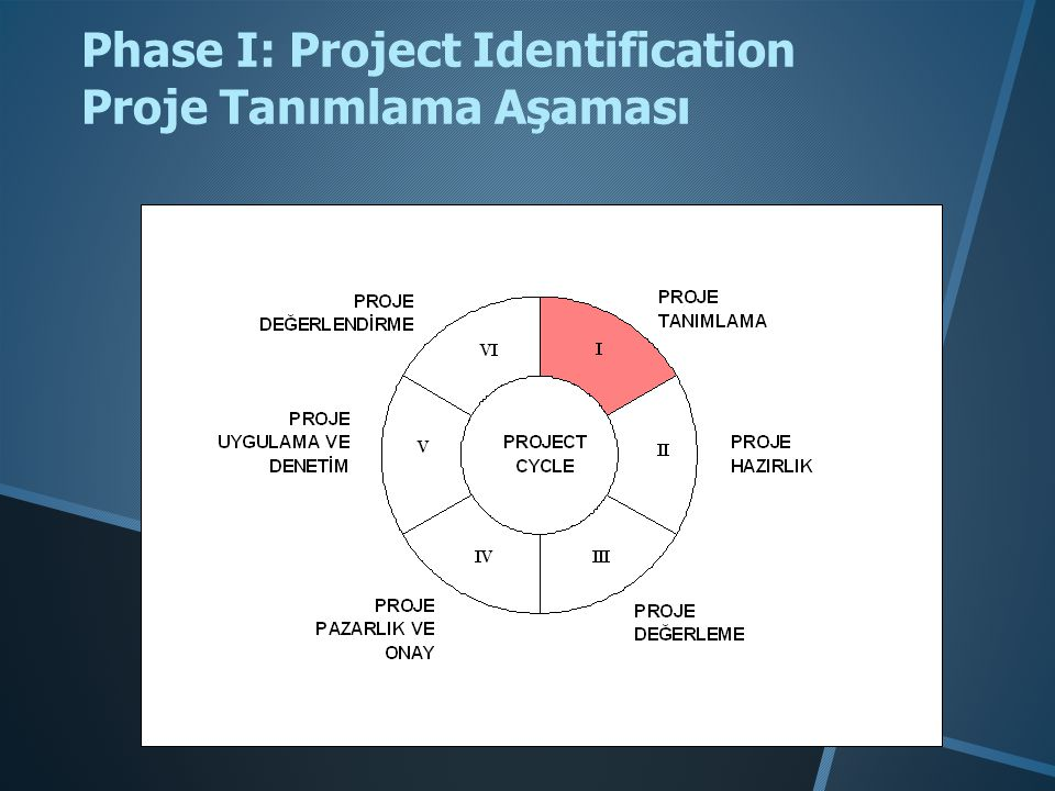 Phase I: Project Identification Proje Tanımlama Aşaması