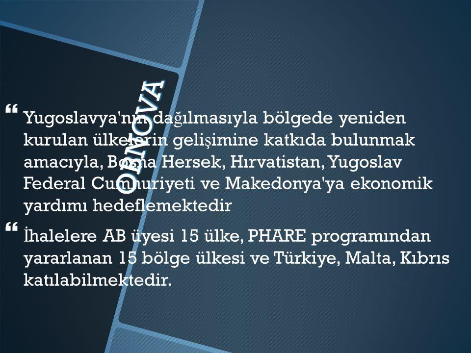 Yugoslavya nın dağılmasıyla bölgede yeniden kurulan ülkelerin gelişimine katkıda bulunmak amacıyla, Bosna Hersek, Hırvatistan, Yugoslav Federal Cumhuriyeti ve Makedonya ya ekonomik yardımı hedeflemektedir