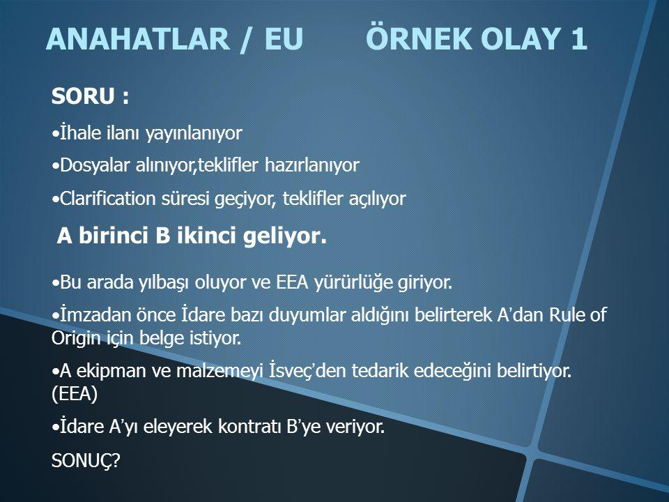 ANAHATLAR / EU ÖRNEK OLAY 1