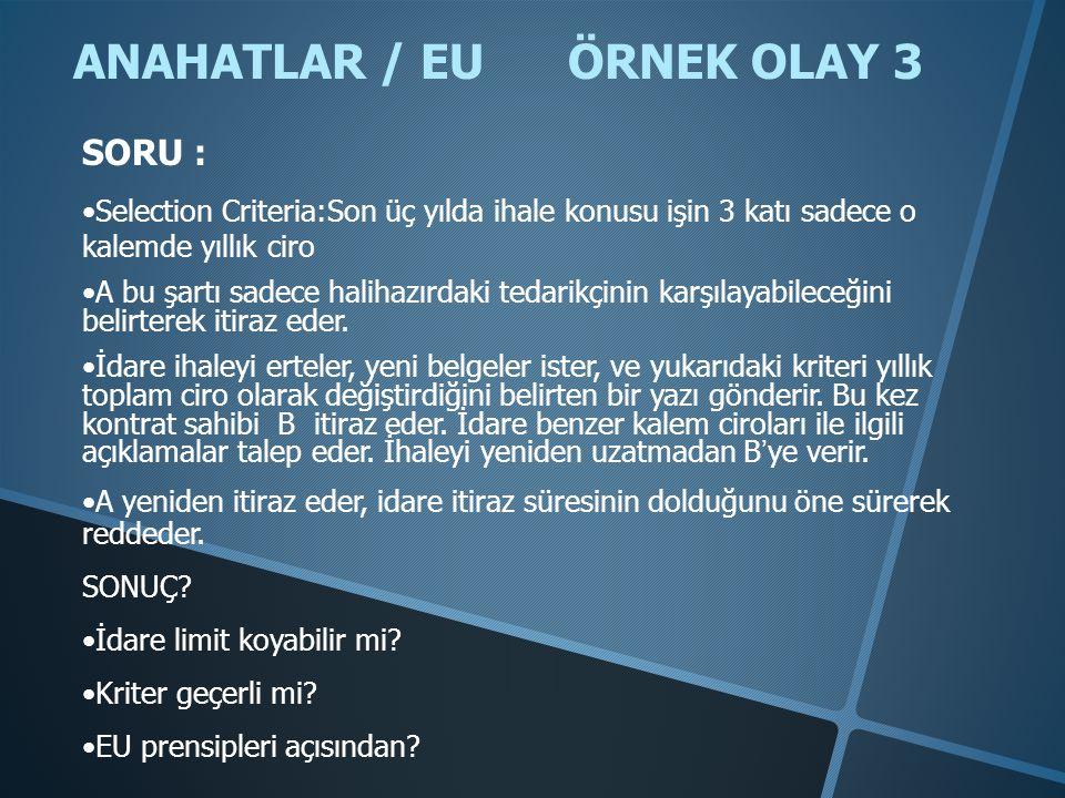 ANAHATLAR / EU ÖRNEK OLAY 3