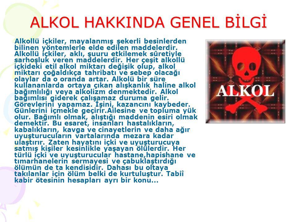ALKOL HAKKINDA GENEL BİLGİ