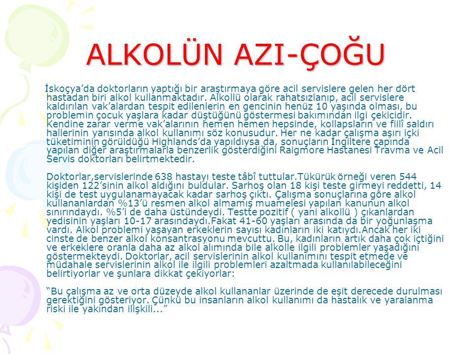 ALKOLÜN AZI-ÇOĞU