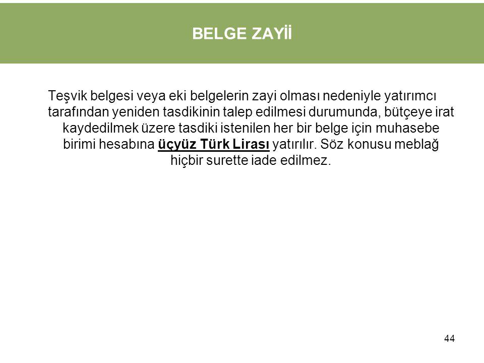BELGE ZAYİİ