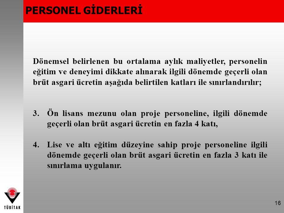 PERSONEL GİDERLERİ
