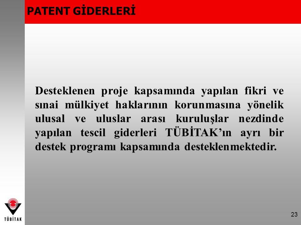 PATENT GİDERLERİ