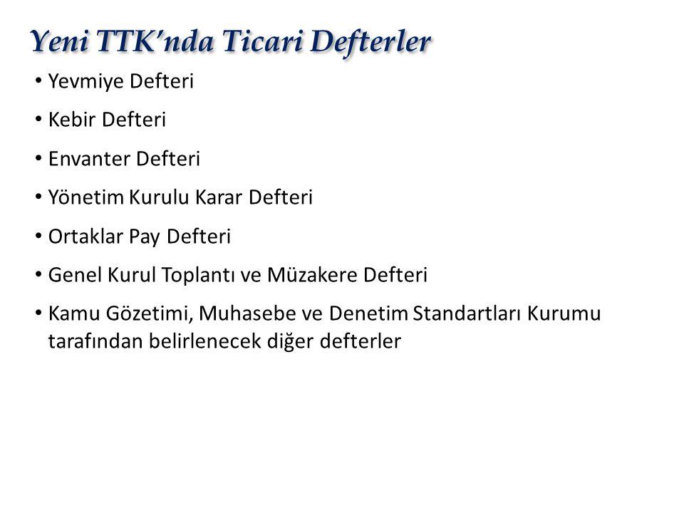 Yeni TTK'nda Ticari Defterler