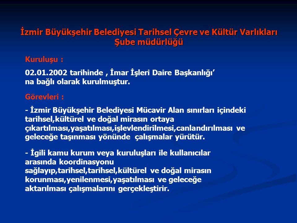 İzmir Büyükşehir Belediyesi Tarihsel Çevre ve Kültür Varlıkları Şube müdürlüğü