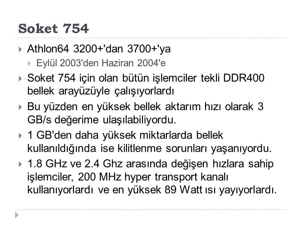 Soket 754 Athlon64 3200+ dan 3700+ ya. Eylül 2003 den Haziran 2004 e.