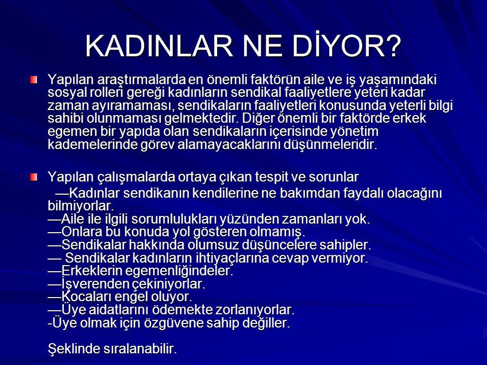 KADINLAR NE DİYOR
