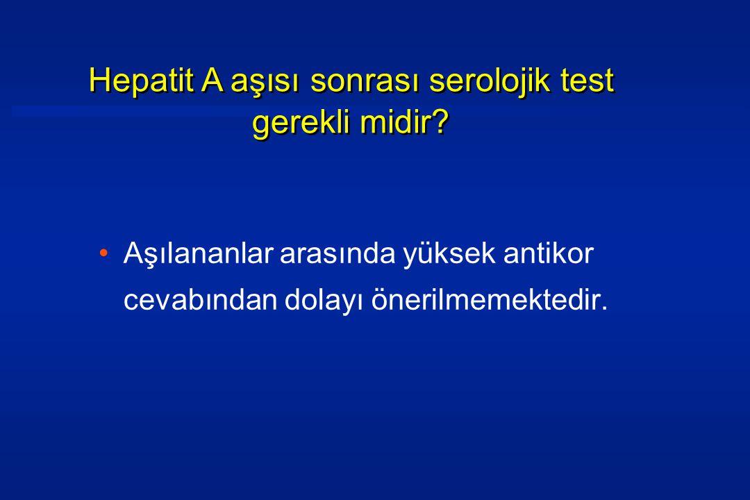 Hepatit A aşısı sonrası serolojik test