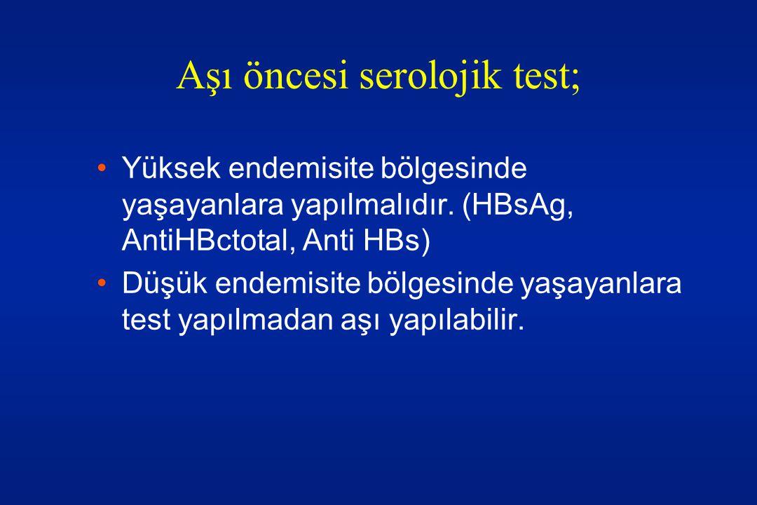 Aşı öncesi serolojik test;