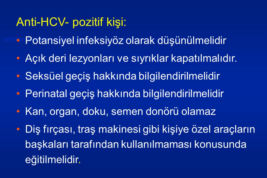 Anti-HCV- pozitif kişi: