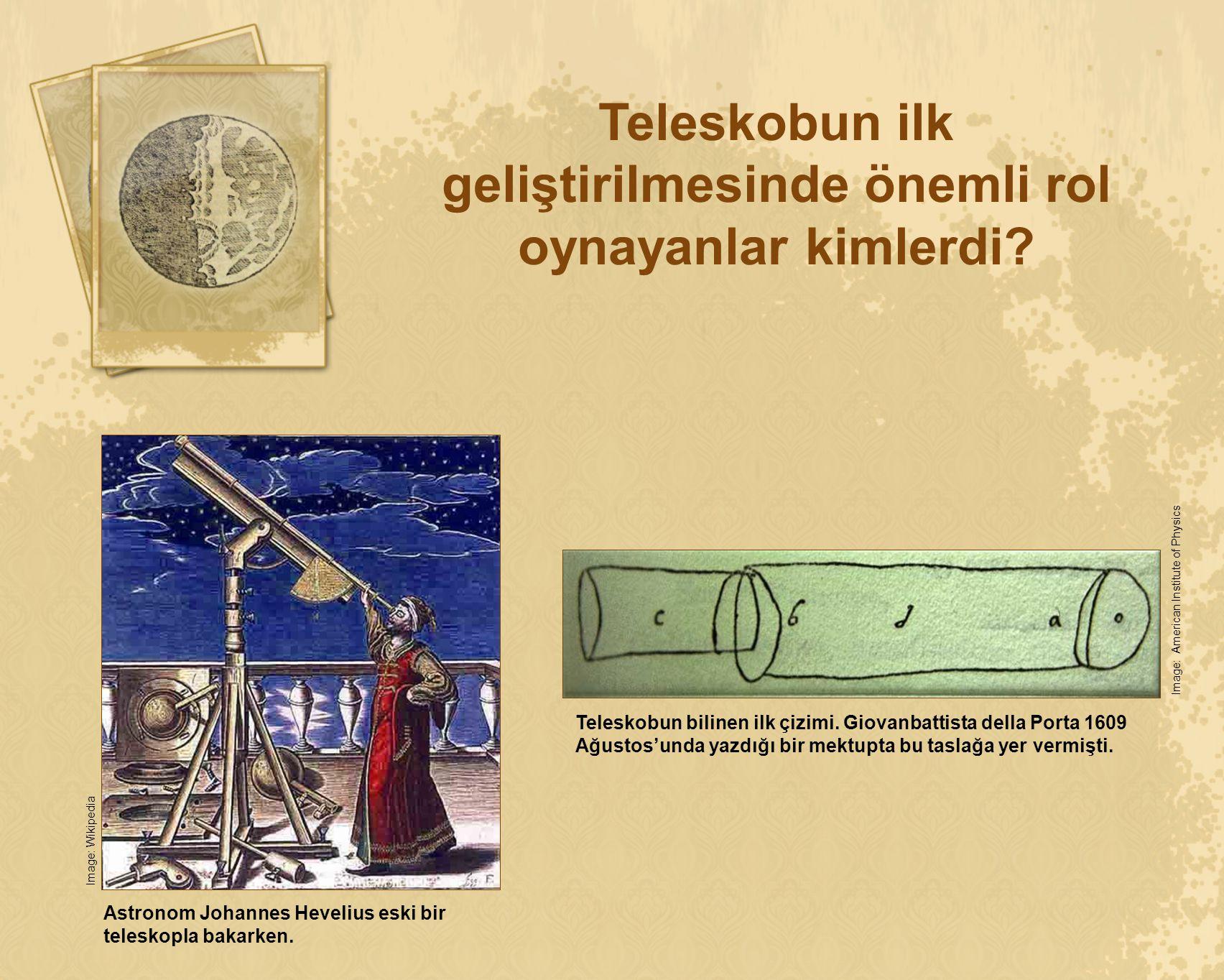 Teleskobun ilk geliştirilmesinde önemli rol oynayanlar kimlerdi