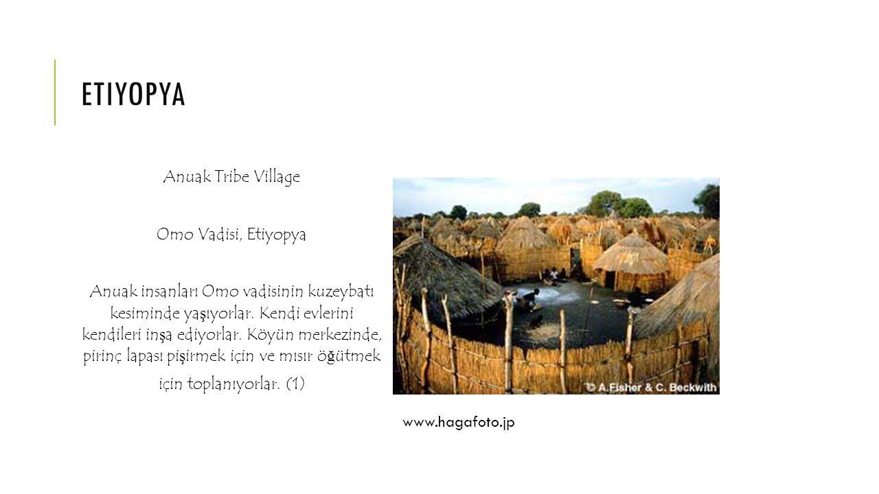 etiyopya Anuak Tribe Village Omo Vadisi, Etiyopya