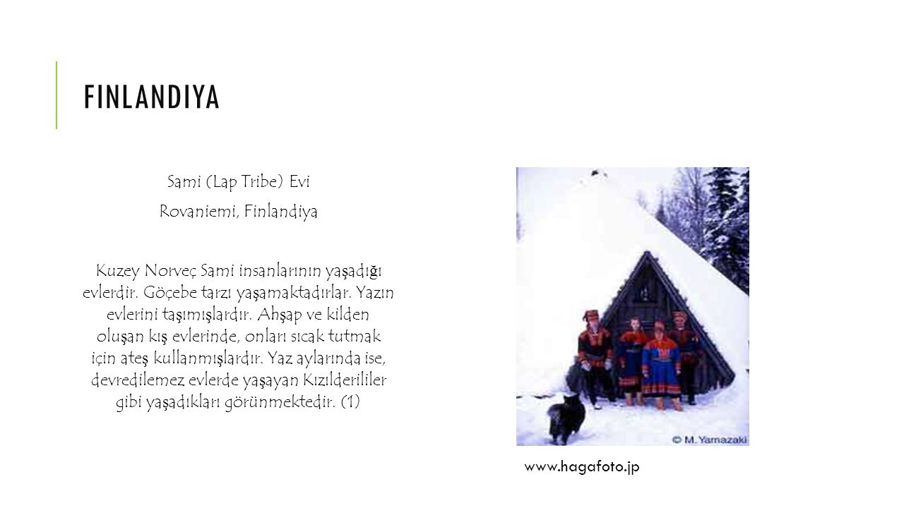 finlandiya Sami (Lap Tribe) Evi Rovaniemi, Finlandiya