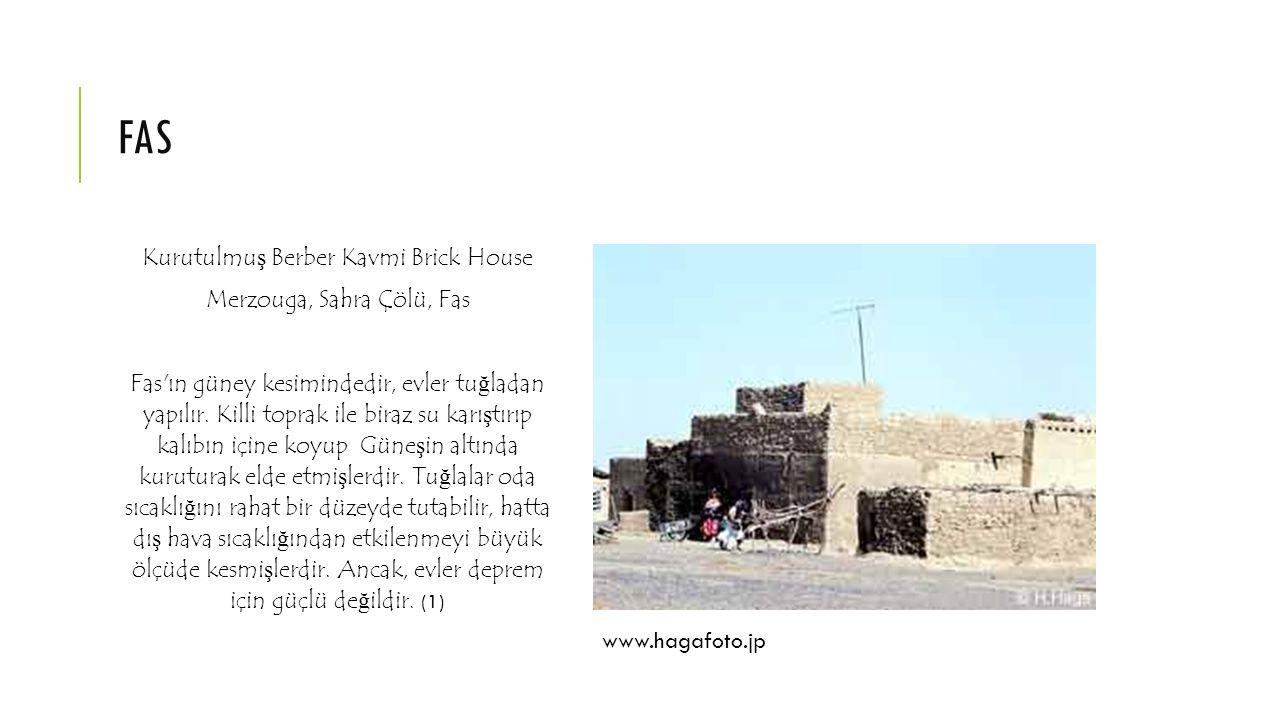 fas Kurutulmuş Berber Kavmi Brick House Merzouga, Sahra Çölü, Fas
