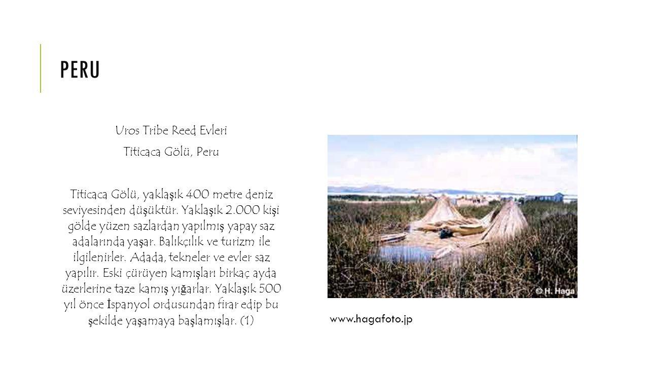 peru Uros Tribe Reed Evleri Titicaca Gölü, Peru