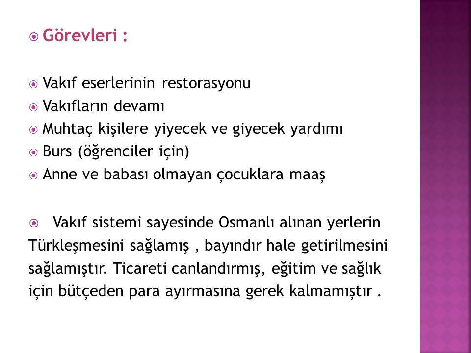 Vakıf sistemi sayesinde Osmanlı alınan yerlerin