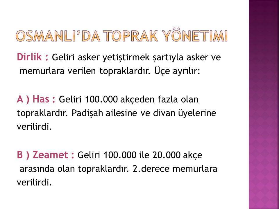 Osmanli'da toprak yönetimi