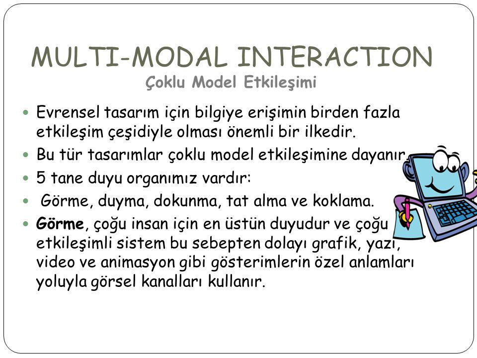 MULTI-MODAL INTERACTION Çoklu Model Etkileşimi