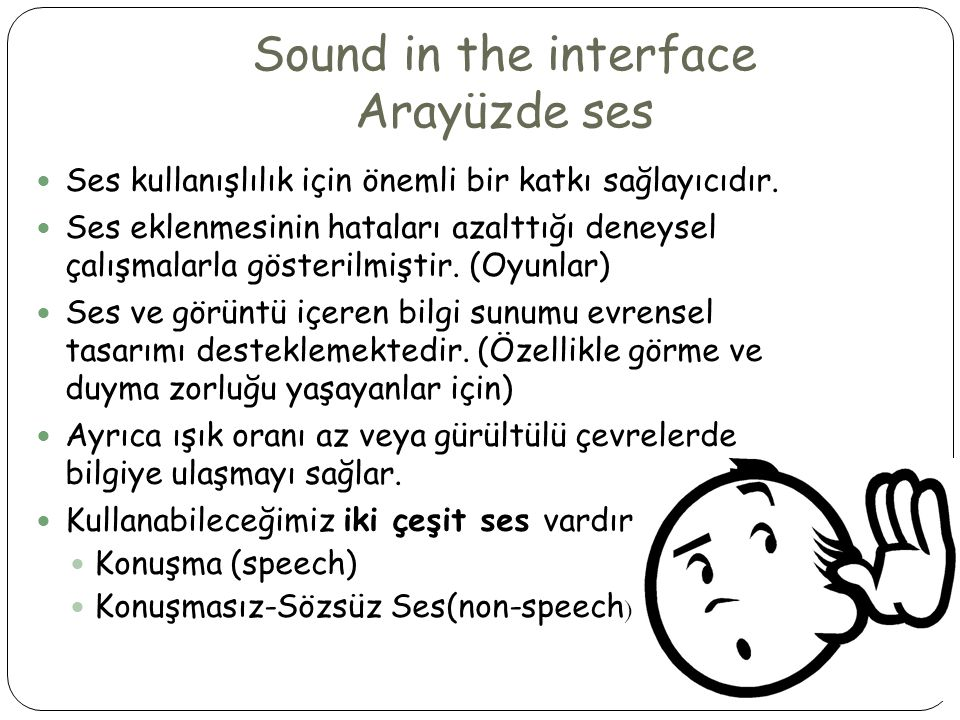 Sound in the interface Arayüzde ses