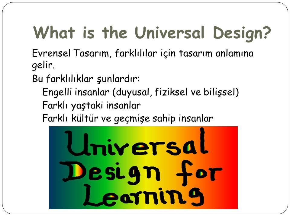 What is the Universal Design
