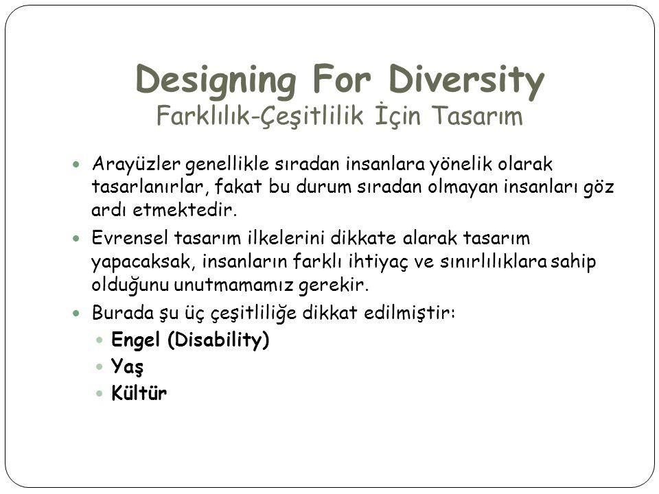 Designing For Diversity Farklılık-Çeşitlilik İçin Tasarım