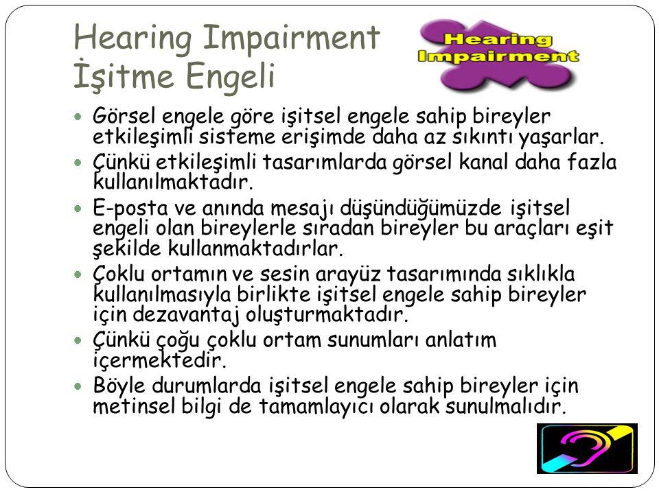 Hearing Impairment İşitme Engeli