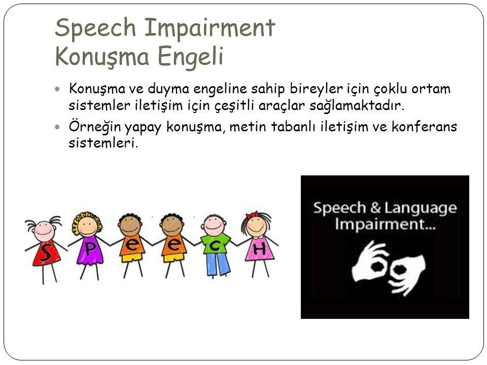 Speech Impairment Konuşma Engeli