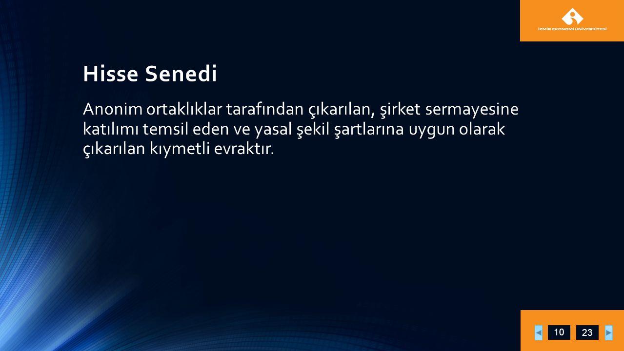 Hisse Senedi