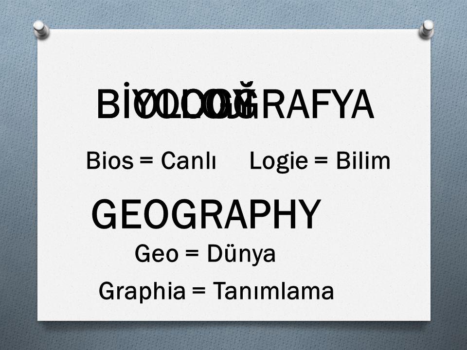 BIOLOGY LOJİ COĞRAFYA GEOGRAPHY