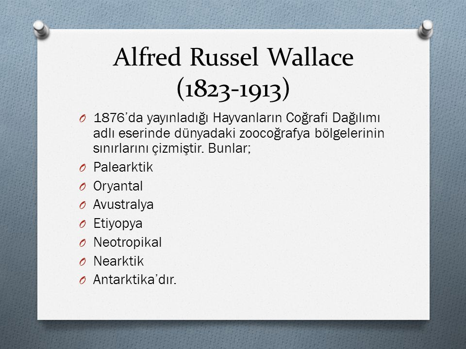 Alfred Russel Wallace ( )