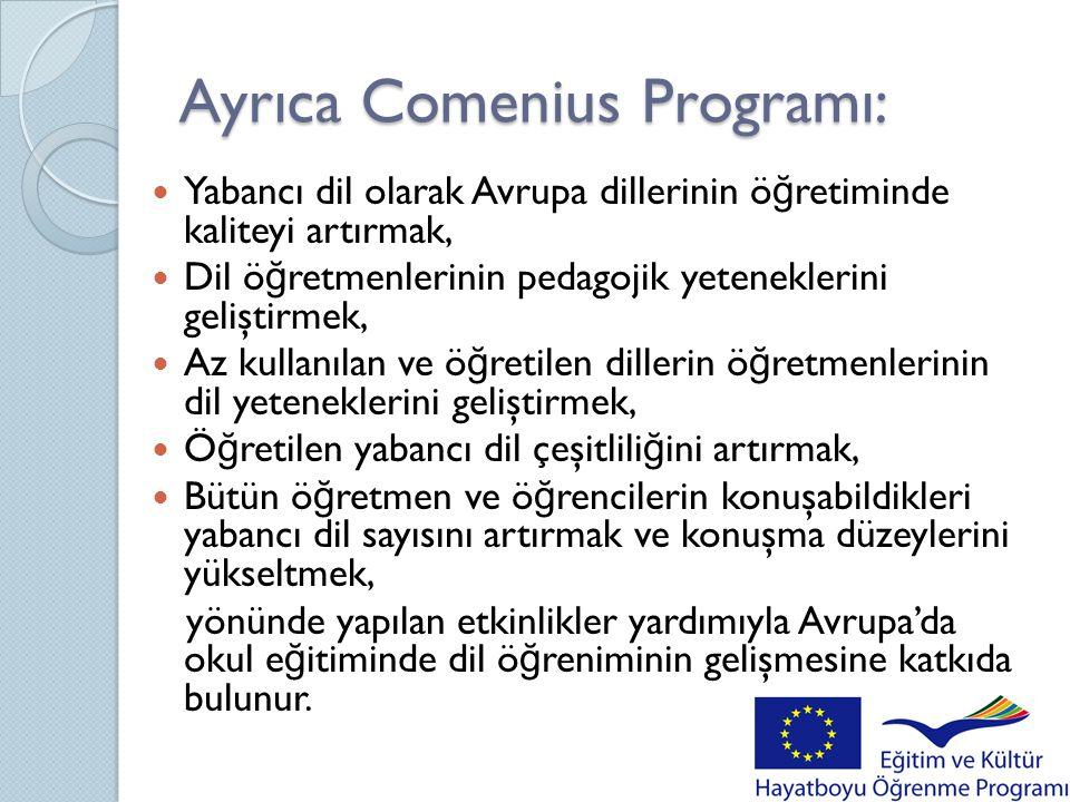 Ayrıca Comenius Programı: